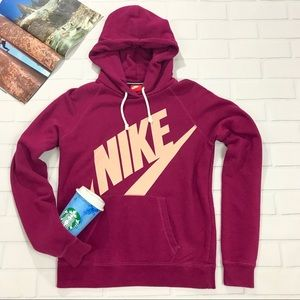 Nike Hoodie Sweater logo plum purple pullover top